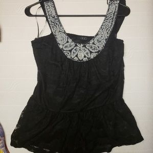 Pearl laced tank top